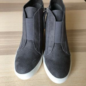 MIA Faux Suede Heeled Sneakers